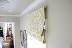 striped roman shade on french door - Google Search