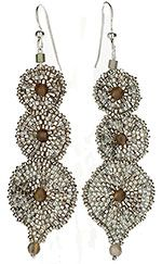 Seed bead and cylinder bead earrings