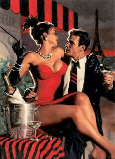 Close Connections - Jack Vettriano.