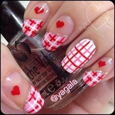 valentine by yagala  #nail #nails #nailart