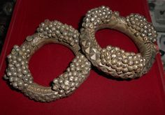 Antique bracelets from India.