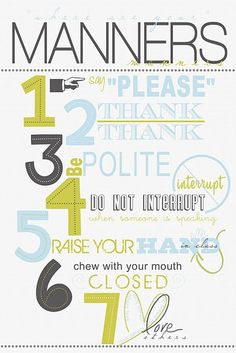 oh, how I LOVE good manners.  this is definitely making an appearance in my classroom this year!