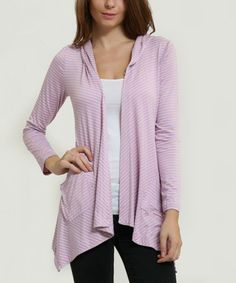 This Lavender Hooded Open Cardigan is perfect! #zulilyfinds