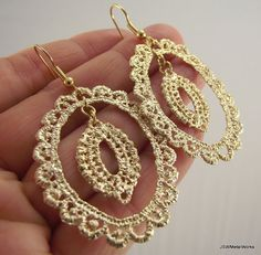 Gold Lace Earrings by JSWMetalWorks