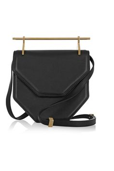 Black leather (Calf) Snap-fastening front flap Made in Spain Leather  Crossbody Bag 4b6cfa9320ffa