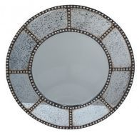 Accentuate the interiors of your home with the Studded/Wood Wall Mirror, an elegant mirror perfect for the modern home. This mirror sports a unique circular shaped wood frame with studded markings making it truly unique and one of a kind. Contemporary Wall Mirrors, Contemporary Style, Modern, Mirror Over Fireplace, Fireplace Mantle, Renovation Hardware, Circular Mirror, Mirrors Wayfair, Interiors