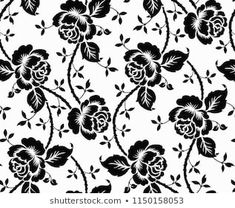 Seamless luxury pattern with flowers and beauty rose