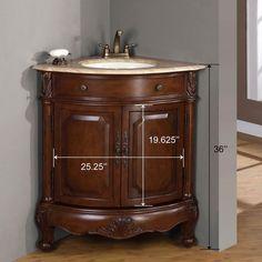 Corner Sink Vanity | Corner Bathroom Vanity | Corner Sink Cabinet