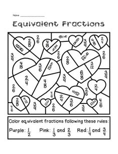 VALENTINE'S DAY EQUIVALENT FRACTIONS ACTIVITY - TeachersPayTeachers.com