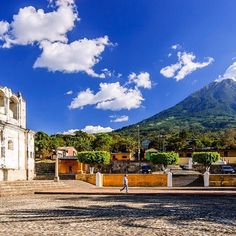 #TravelTo #Guatemala and soak in the European-style architecture and epic volcano backdrops.