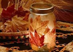 Great idea for lighting up a fall wedding! DIY and pretty :)
