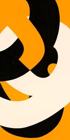 Typographic Swirl Orange by Nat Connacher