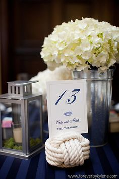 Nautical Wedding Table Number Holders - 19 Nautical Rope Table Number Holders - 19 wedding knots - Beach Theme -free pdfs 'til 28th December