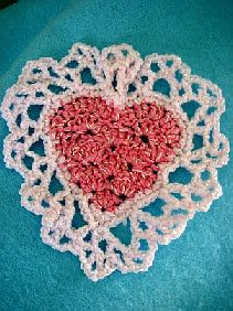 Heart Sachet Free Crochet Pattern