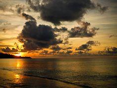 Sunset on Grand Anse Beach, Grenada