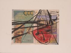 The past and the present Collage, oil, ink on shimmed paper, 2001, 57x77 cm