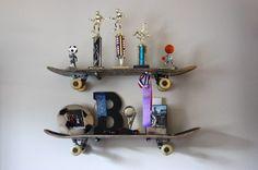 8. Skateboard Shelves - 15 Simple but Awesome DIY Shelf Ideas ... → Lifestyle