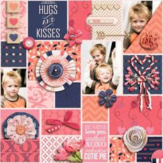 Personal Use :: Kits :: Hugs and Kisses Digital Scrapkit