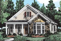 Cottage Style House Plans, Ranch House Plans, Best House Plans, Country House Plans, House Floor Plans, Small Cottage Homes, Small Cottage House Plans, Coastal Cottage, Small Homes