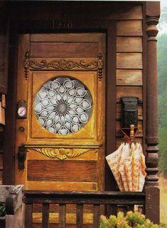 Caravan Gypsy Vardo Wagon:  The door to a #Gypsy wagon.