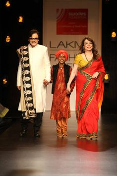 Sanjay Khan & Wife Zarine Khan Walked The Ramp for Vikram Phadnis at Lakme Fashion Lakme Fashion Week 2013
