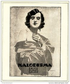 Original-Werbung/ Anzeige 1924 - KALODERMA / WOLFF & SOHN KARLSRUHE  - ca. 140 x 160 mm