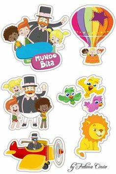 Mundo Bita Circus Party, Printable Stickers, Silhouette Projects, Safari, Alice, Hello Kitty, Banner, Snoopy, Scrapbook