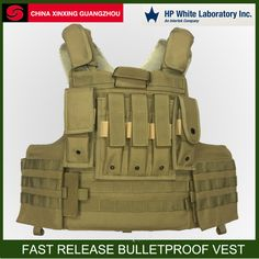 Overall Removab Structure Protect Bullet from NIJ Level IIIA-9mm Luger--.44 Soldiers Protector Body Armour Ballistic Vest