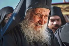 """A disciple asked an elder, """"Elder, why are you happy all day long?"""" The elder replied, """"Because all night long I weep for my sins before God."""" In the photo, Elder Joseph of Vatopaidi quotes Christian World, Christian Faith, Christian Quotes, The Holy Mountain, Orthodox Christianity, Photo Journal, Orthodox Icons, Our Lady, Are You Happy"""