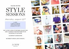 @J.Crew Style Sessions this Thursday night at Southpark Mall... Join me!