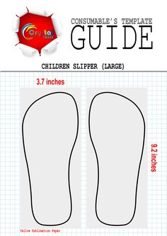 Sublimation Children Slippers (Large) Template