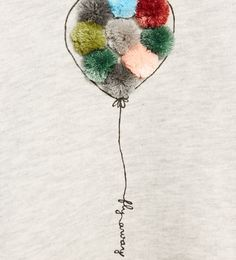 Image 4 of SWEATSHIRT WITH BALOON AND POMPOMS from Zara