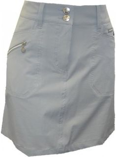 "Daily Sports USA Women's  Solid Miracle 18"" Golf Skort-Silver"