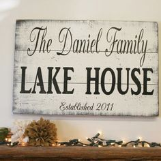 Welcome To The Lake Signs Decor Amusing Welcome To Our Home On The Lake Personalized Sign Wood Sign Or Design Ideas