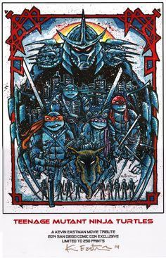 Teenage Mutant Ninja Turtle 2014 SDCC print by Kevin Eastman