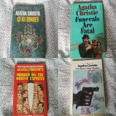 Vintage Agatha Christie. $4.00 each or $12.00 for all. #agathachristie #mistery #books #book #ilovetoread #ilovebooks by isobooks