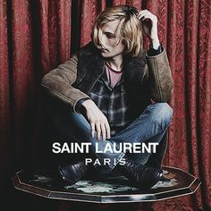 ZACH COLE SMITH FOR SAINT LAURENT WINTER 13 by Hedi Slimane