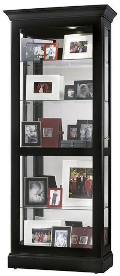 Curio Cabinet A Tall And Skinny Cabinet With Glass Doors And Panels