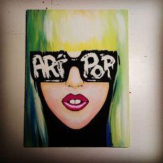 Artpop. Lady Gaga <3 Handmade by me. Canvas panel painted with acrylic colors. #fashion #fame #ladygaga  #artpop #art #grimnglam  #stars #monster #didi  #glamour #gaga #bornthisway #lady #painted  #handmade  #lovegaga #ladygagaartpop #ladygagaart #ladygagamonster