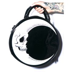 Kill Star Dark Side Handbag lives in the moonlight. This lunar lovin' round bag is super smooth with a glossy sheen and gorgeous crescent moon graphic printed …