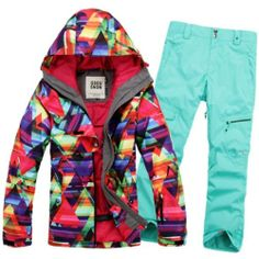 2013 New Women Warm Ski Suit Jacket Coat Pants Snowboard Clothing XS L | eBay - 285 NEED THIS