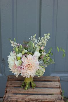 August bridesmaid bouquets designed by Love 'n Fresh Flowers and grown at our farm