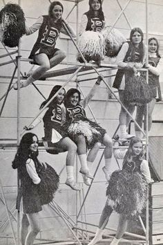 60s Cheerleaders... and we actually wore clothes, unlike some cheerleaders today, ;)