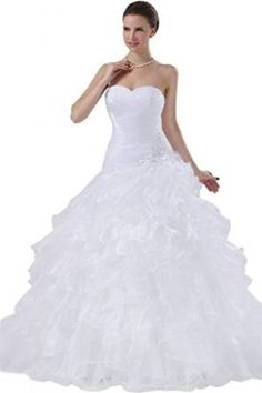 #Sunvary #Women's 2014 #Organza #Ball #Gown #Dress #Bride #Vintage