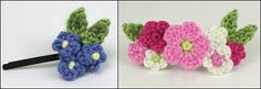crocheted hair accessories by planetjune