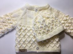 Hat And Mitts 0-3 Months Girl New Hand Knit Cardigan Clothing, Shoes & Accessories
