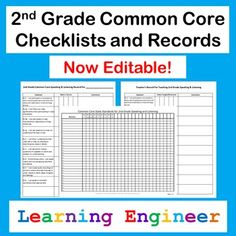 """I took the 2nd Grade Standards and turned them into student and teacher friendly """"I can"""" statements. I used those to create these records. They have been updated to allow users to enter data using Acrobat. They can still be printed up and filled in by hand if you prefer. I made two types of records. One for tracking an individual student's progress and one for teachers to track when they have taught/reviewed each standard. Use the checklists as a quick reference for your whole class. $"""