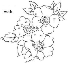 Flores para pintar en tela - Imagui