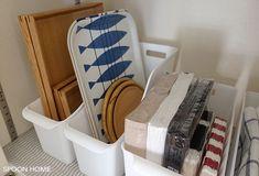 セリア・ラッセバスケットの収納アイデアのブログ画像