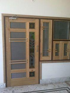 Trendy Main Door Design With Jali Main Entrance Door Design, Wooden Front Door Design, Door Gate Design, Room Door Design, Wooden Front Doors, Door Design Interior, Window Design, Flush Door Design, Design Bedroom